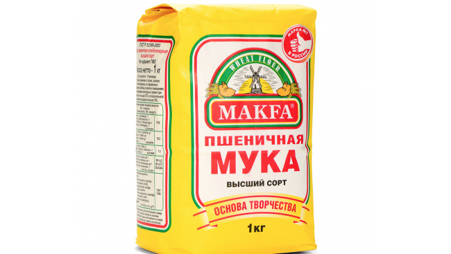 Мука Макфа 1кг пшеничная