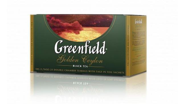 Чай Гринфилд Голден Цейлон 2г*25пак.