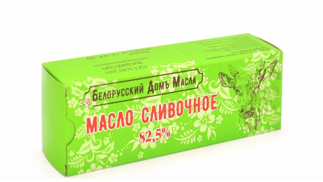 """Масло Сладко-сливочное 82,5%  """"Белорусский дом масла"""""""