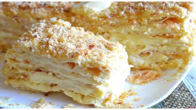"""Торт """"Наполеон"""" с кремом"""