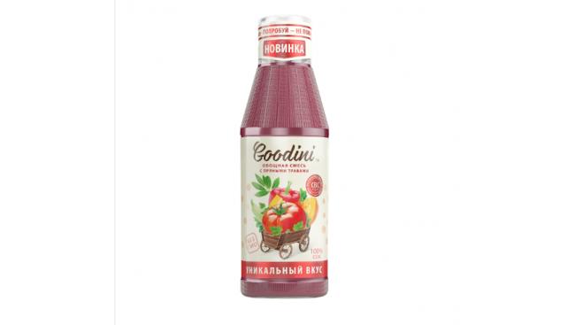 Сок Goodini, Овощная смесь с пряными травами, с/б 0,75 л